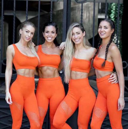 Женская бесшовная одежда для фитнеса, спортивная одежда для женщин