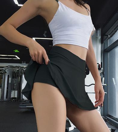 Женская спортивная короткая юбка, плиссированная короткая юбка для йоги, шорты для фитнеса и бега